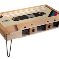 Cassette Tape Coffee Table, Mixtape Coffee Table, LED Cup Holders