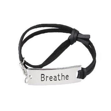 Breathe Leather Strap Bracelet