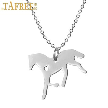 New Stylish Lover Horse Stainless Steel Pendant Necklaces