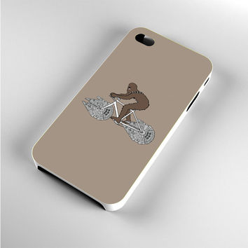 Chewbacca Biking Star Wars Ilustration iPhone 4s Case