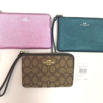 COACH WRISTLET CORNER ZIP CARD HOLDER WALLET NWT U CHOOSE COLOR LIST $75