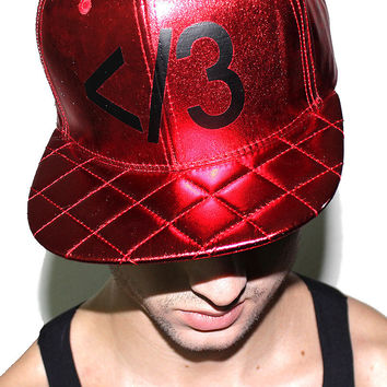 Heartbreaker Metallic Snap Back Hat-Red