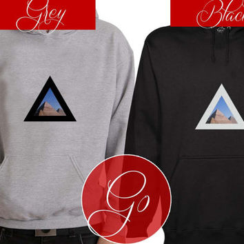 Alt-J Pyramid  Hoodie Sweatshirt Sweater Shirt black and white UnisexAlt-J Pyramid