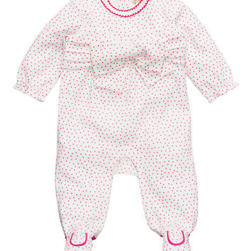 Kate Spade Layette Jillian One-Piece Cream / Vivd Snapdragon Dot