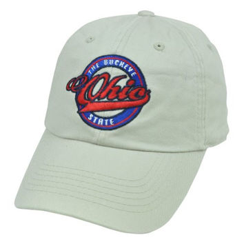Ohio Buckeye State Top of the World Relaxed Slouched Washed Cotton Fit Hat Cap