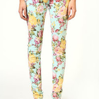 Lucy Floral Pastel Skinny Jeans