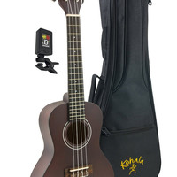 Kohala Player Pack Soprano Ukulele KPP-S Package, Includes Bag and Tuner