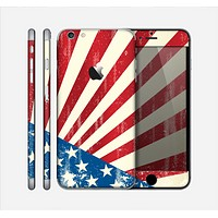 The Vintage Tan American Flag Skin for the Apple iPhone 6 Plus