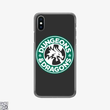 Starbucks Parody Mashup, Dragon And Dungeon Phone Case