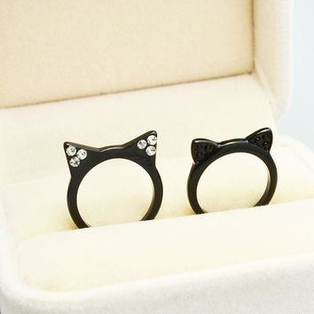 New fashion accessories jewelry cute black kitty Cat ears