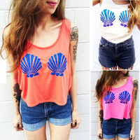 Mermaid shell top