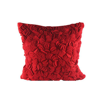 Design Accents SL 31419 - 20x20 - RED Felt Wafer Felt 20 x 20 Decorative Pillow