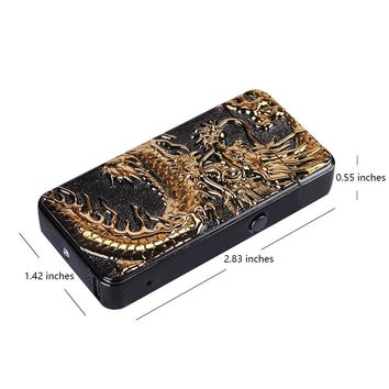 Arc Lighter for Men & Women, BEST Electric Cigarette Lighter for Daily Use & Camping. Chinese Dragon Pattern, USB Rechargeable, Windproof & EDC with USB Charging Cable