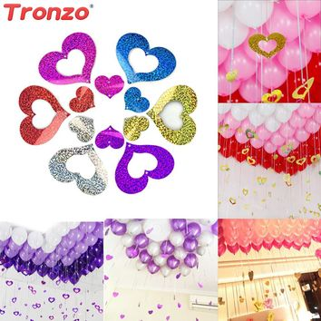 Tronzo Wedding Decoration Balloon Pendant Sequins 100pcs Colorful Love Heart Confetti Balloon Pendant Wedding Party Supplies