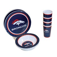 Denver Broncos 12-pc. Melamine Dish Set (Team)