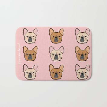 Frenchie Addiction by Frenchie Love Bath Mat by Frenchie Love