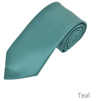 Teal Tie and Hanky Set