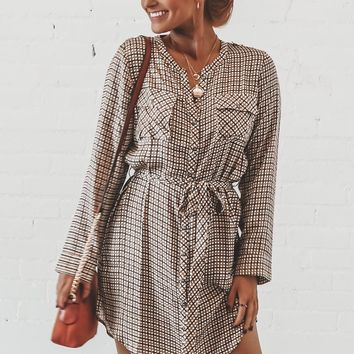 CHASER Button Front Henley Shirttail Hi Lo Dress