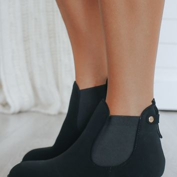 All I Need Booties - Black