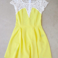 Neon Lace Back Party Dress [7304] - $42.00 : Feminine, Bohemian, & Vintage Inspired Clothing at Affordable Prices, deloom