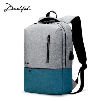 DEELFEL 2018 New Anti Theft Backpack Women High Quality Travel Hipster Backpack Ladies School Bags For Teenage Girls College Bag