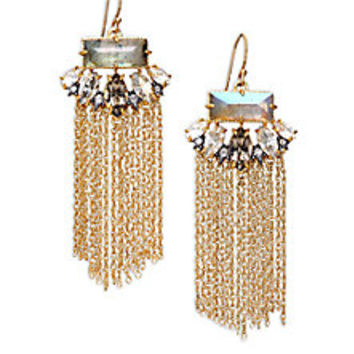 Alexis Bittar - Elements Punk Labradorite & Crystal Fringe Drop Earrings - Saks Fifth Avenue Mobile