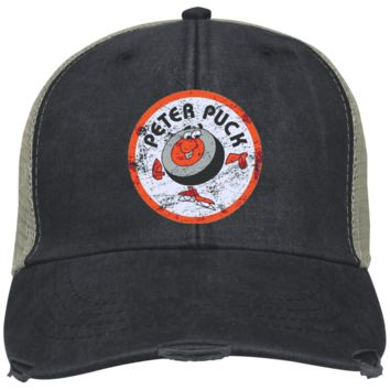 fde5d617 Retro Distressed Peter Puck Embroidered Cap