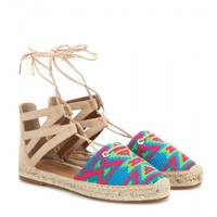 Belgravia embroidered suede espadrille sandals
