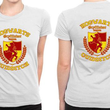 DCCKG72 Hogwarts Gryffindor Quidditch B 2 Sided Womens T Shirt