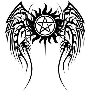 Anti Possession Wings Symbol Supernatural Decal Sticker Catholic Voodoo Demons for Car Windows Truck Room