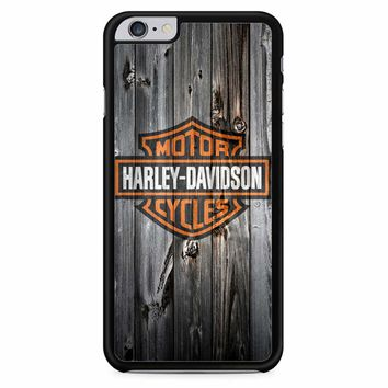 Harley Davidson Logo Wood iPhone 6 Plus / 6S Plus Case