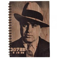 Wood Notebook Al Capone Large