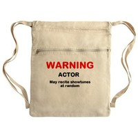 WARNING Cinch Sack on CafePress.com