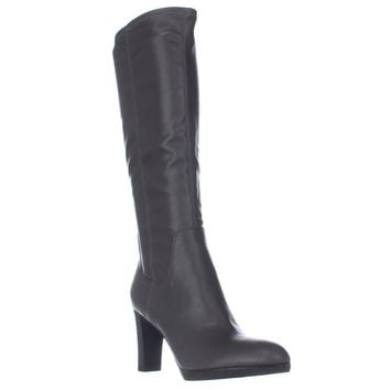 Franco Sarto Ilana Knee High Boots, Grey, 9.5 US / 39.5 EU