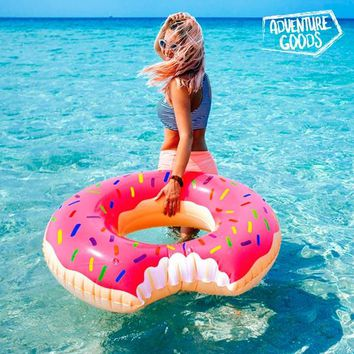 Adventure Goods Inflatable Pink Swim Ring