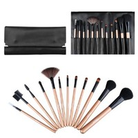 Ovonni® Best Makeup Brushes Brand 12 pcs Professional Travel Makeup Brush Case