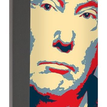 President Donald Trump Hope Poster 2 - Portable Battery Charger