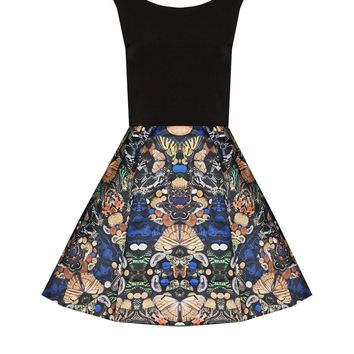 alice + olivia | AMABEL BOX PLEAT SKIRT DRESS