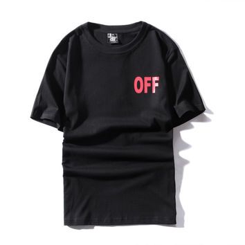 Off White Couple Tops Short Sleeve T-shirts [10262357715]
