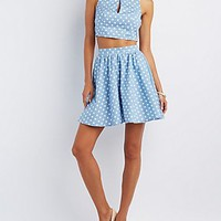 POLKA DOT CROP TOP & FULL SKIRT HOOK-UP