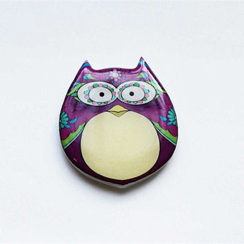 Free shipping Brooch - animal brooch-Colored owl-5
