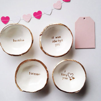 Personalized Valentine's Day Jewelry Ring Dish