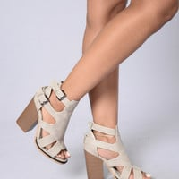Bang Bang Heel - Grey