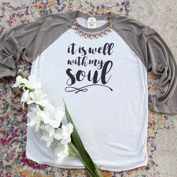 It Is Well With My Soul Baseball Shirt