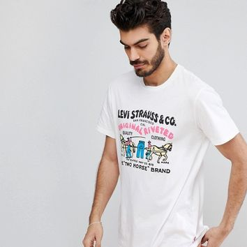 Levi's Two Horse Vintage Logo T-Shirt at asos.com