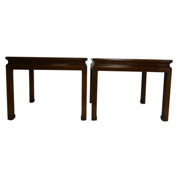 Pre-owned Mid-Century Karges Asian End Tables - A Pair