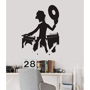 Wall Decal DJ Night Club Music Dance Floor Art Vinyl Stickers Unique Gift (ig2883)