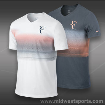 nike mens shirt, Nike RF Trophy V-Neck T-Shirt Fa13_547585, Midwest Sports