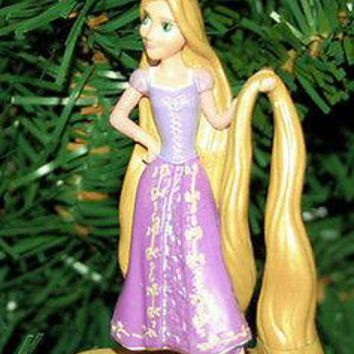 Licensed cool NEW Disney Tangled Princess Rapunzel Girl Long Hair Doll Christmas Ornament PVC