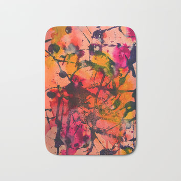 Summer Fling Bath Mat by duckyb